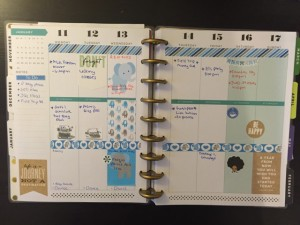 Happy Planner layout- elephants