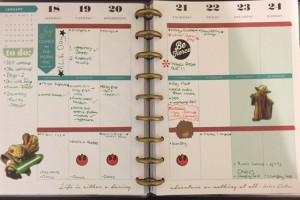 Happy Planner layout- Yoda